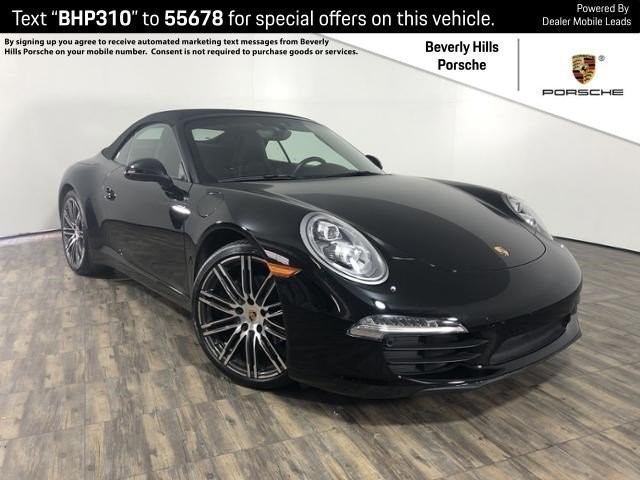Certified Pre-Owned 2016 Porsche 911 Carrera Cabriolet Black Edition